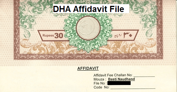 Buy DHA Affidavit File