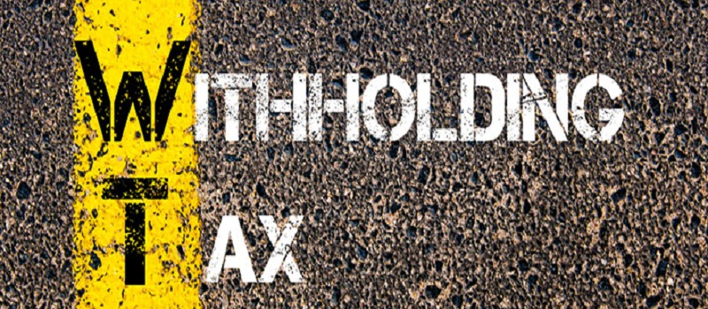 Advance Withholding Tax On Property
