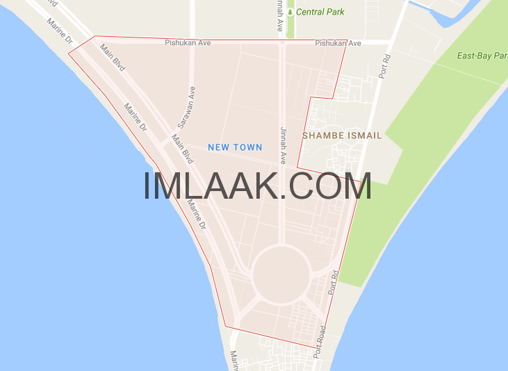 new town map gwadar